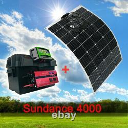 Centrale Électrique Portative Avec Panneau Solaire De 200 Watts Et Onduleur De 4000 Watts