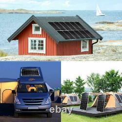 Chargeur De Batterie À Panneau Solaire Flexible 130w Watt Pour Voiture/bateau/camping/rv
