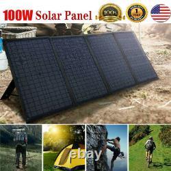 Chargeur De Batterie Pliable De Panneau Solaire Pliable Portable De 100 Watts 12 Volts Pour Vr