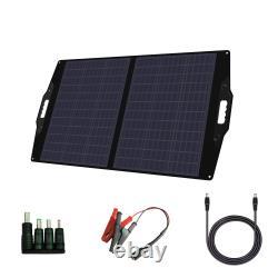 Chargeur De Panneau Solaire Portatif Pliable 100 Watt Flexsolar C100 Avec Support Et Sac