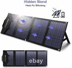 Chargeur De Panneaux Solaires Pliable Monocrystalline De 120/60 Watts Avec 3output