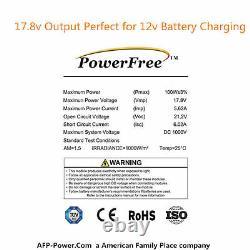 Chargeur Mono-panneau Solaire Monocrystalline De 100w 100 Watt Pour Batterie 12v