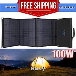Chargeur Portable De Batterie De Panneau Solaire Pliable De 100 Watts 12 Volts Pour Rv