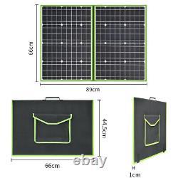 Chargeur Portable De Panneau Solaire Pliable 100w Watt 20v Pour Batterie 12v À L'extérieur