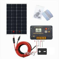Eco 100w 200w 400w 600w +20% Watt 12v 24v Solar Panel Kit Rv Trailer Van Us
