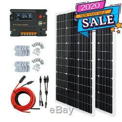 Eco 100w 200w Watt Kit Panneau Solaire Charge De La Batterie 12v Contrôleur Rv Caravan Boat
