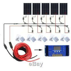 Eco 120w 240w 720w 960w Watt Kit Panneau Solaire 12v / 24v Charge De La Batterie Accueil Rv Us
