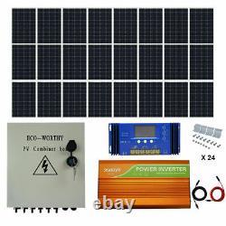 Eco 1kw 1.5kw 2kw 3kw Watt 24v / 48v Panneau Solaire Kit Off 120w Système Panneaux Solaires