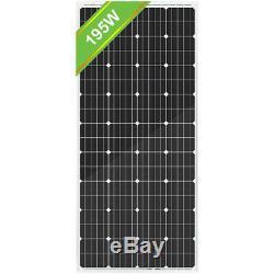 Eco 200w Watts Panneau Solaire Charge De La Batterie Pour Le Kit 12v Rv Boat Accueil Voiture Hors Réseau