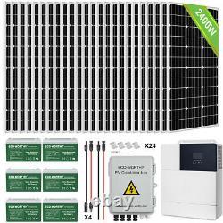 Eco-digne 1600w 2400w 3600w Watt Kit Panneau Solaire Pour Rv Remorques Accueil Shed Farm