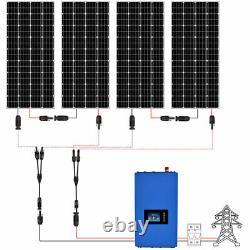 Eco-digne 2000w 1600w 1200w 800w Watt Sur La Grille Tie Solaire Kit Panneau Pour La Maison Des États-unis