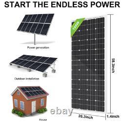 Eco-worthy 100w 50 Watt Panneau Solaire Monocristallin 12v Rv Camping De Bateau De Voiture