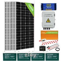 Eco1600w Watt Off Grid Complete Solar Panel Kit 3500w Onduleur 400ah Gel Batterie