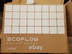 Ecoflow 110watts Efsolar110n Panneau Solaire Pliant Étanche Nouveau