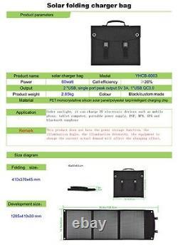 Générateur Solaire De 250 Watts Et Kit De Panneaux Solaires Pliables De 60 Watts