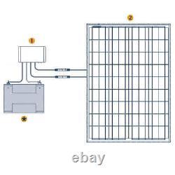 Grape Solar 100-watt Ip68 Kit De Recharge Solaire Hors-grid