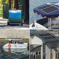 Hqst 100w Watt 12v Mono Haut-flexible Léger Panneau Solaire Pour Camping / Bateaux