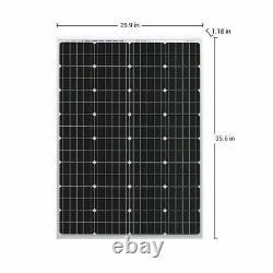 Hqst 100w Watt 12v Mono Solar Panel Starter Kit With10a Controller Off Grid System
