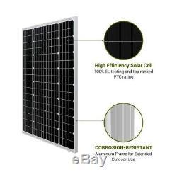 Hqst 200 Watt 12v Mono Panneau Solaire Starter Kit Chargeur De Batterie Rv Accueil Hors Réseau