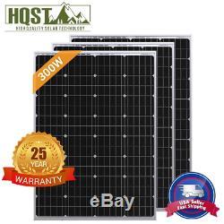 Hqst 3pcs 100w Watt 12v Mono Panneau Solaire 300w Monocristallins Rv Boat Accueil