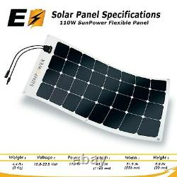Idéal Pour Camper Van, Made In France 110-watt Sunpower Flexible Solar Panel