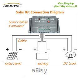 Kit Complet De 100w 100 Watt Mono Panneau Solaire Pour La Batterie 12v Rv Boat