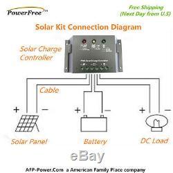 Kit Complet Super Black 80w 80 Watt Mono Panneau Solaire 12v Batterie Rv Boat