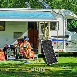 Kit De Panneau Solaire 200wwatt 200w Avec Contrôleur De Charge Solaire 12v/24v Rv Boat Off Grid