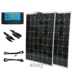 Kit De Panneau Solaire De 200 Watts Avec Contrôleur De Charge Solaire 12v Rv Boat Off Grids Us