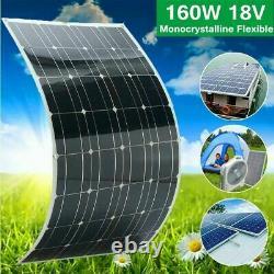 Kit De Panneau Solaire Flexible De 160w 160 Watt 22v Charge De Puissance De Batterie Pour Le Bateau De Voiture De Rv