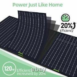 Kit De Panneau Solaire Pliable Pliable De 100w Watt 12v Pour La Centrale Électrique, Charge De Batterie