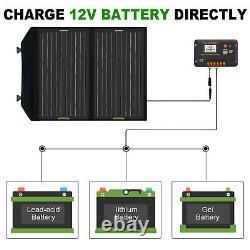 Kit De Panneau Solaire Pliable Watt 12v De 250w Pour La Centrale Électrique, Chargelaptop De Batterie