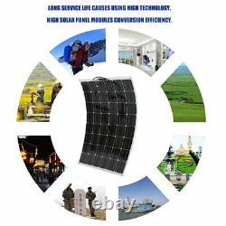 Kit De Panneaux Solaires De 200 Mw Avec Contrôleur De Charge Solaire 12v Rv Boat Off Grids