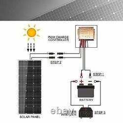 Kit Panneau Solaire 100 Watt 12 Volt Monocrystalline Off Grid System For Homes Rv