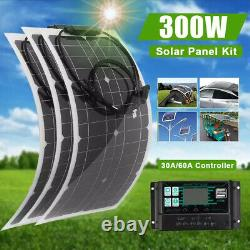 Kit Panneau Solaire 12v 100w 200w 300w Watt Monocristallin Eco-worthly Rv Camping