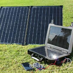 Le Générateur Solaire Phoenix + 100 Watt Monocristallins Panneau Solaire Pliable Kit