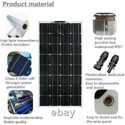 Mono Flexible Bendable 150w 150 Watt Léger Panneau Solaire 18v Batterie Hors Réseau