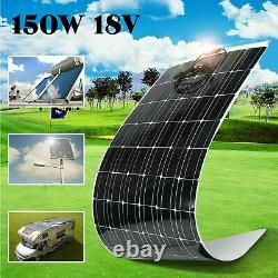Monocrystalline 18v 150watt Panneau Solaire Flexible Charge Car Rv Boat Home Camp Bt
