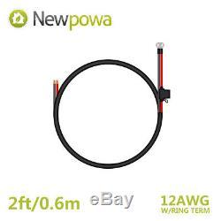 Newpowa 100 Watt Panneau Solaire 100w Kit 12v Monocristallins Hors Réseau Batterie Rv