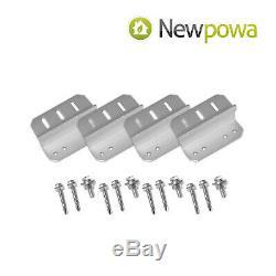 Newpowa 150w Watt 12v Monocristallins Panneau Solaire Kit De Démarrage
