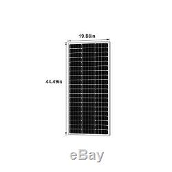 Newpowa 200w 2pcs 100 Watt Panneau Solaire Monocristalline Rv Marine Accueil Off Grid