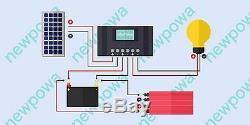 Newpowa 25w 12v Watt Mono Panneau Solaire Pwm 10a Contrôleur De Charge Um Support Kit
