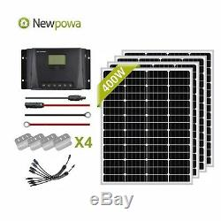 Newpowa 400w 12v Watts Panneau Solaire Monocristallin De Charge Système Kit De Grille
