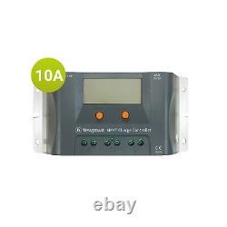 Newpowa 75w Watt 12v Panneau Solaire +mppt 10a Charge Controller+6ft Câble D'extension