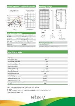 Nouveau 360w Mono 72 Cell Solar Panel 360 Watts Ul Certifié