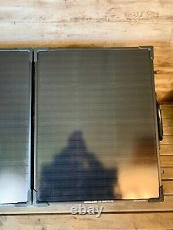 Nouveau But Zero Boulder 100 Watt Monocrystalline Briefcase Panneau Solaire Avec Sac