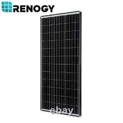 Nouveau Design Renogy 100w Watt 12v Volt Panneau Solaire Monocristallin Avec Cadre Noir