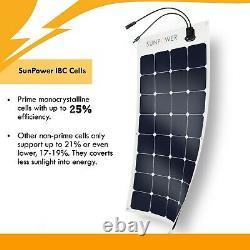 Nouveau Sunpower 110 Watt Mono Panneau Solaire Hors De L'alimentation Du Réseau