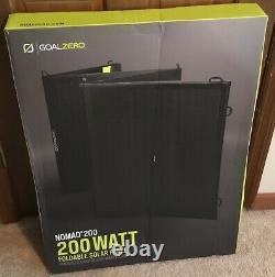 Objectif Zero Nomad 200 Watt Panneau Solaire Pliable Portable # 11930