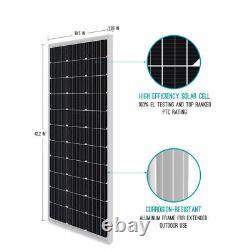 Open Box 2pcs Renogy 100w Watt 12v Mono 200w Solar Panel Home & Garden Pv Power